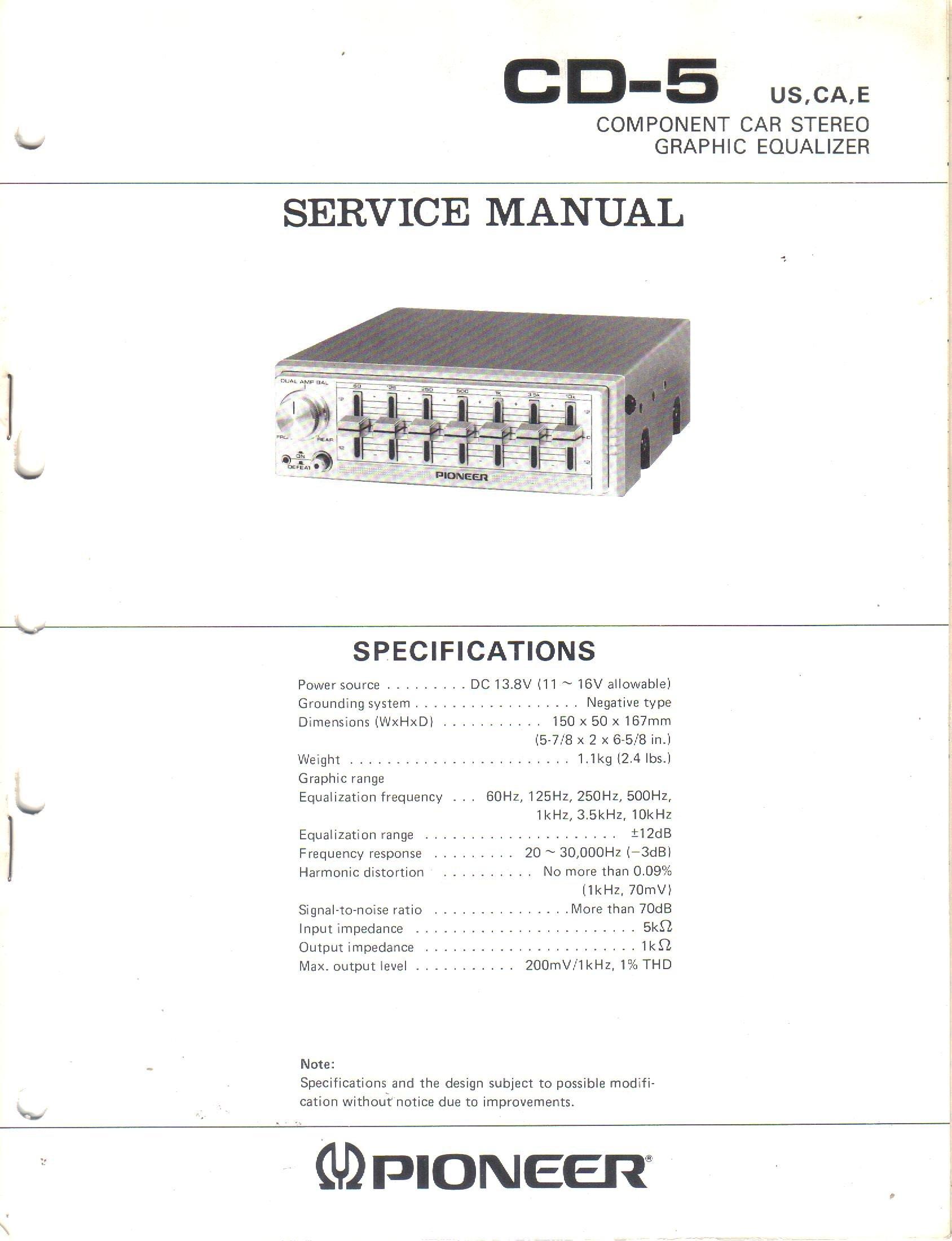 Pioneer Equalizer Wiring Diagram   40 Amp Wiring Diagram   air ...