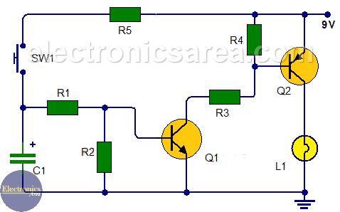 Peachy Time Delay Light Switch Circuit Using Transistors Electronics Area Wiring Cloud Hisonepsysticxongrecoveryedborg