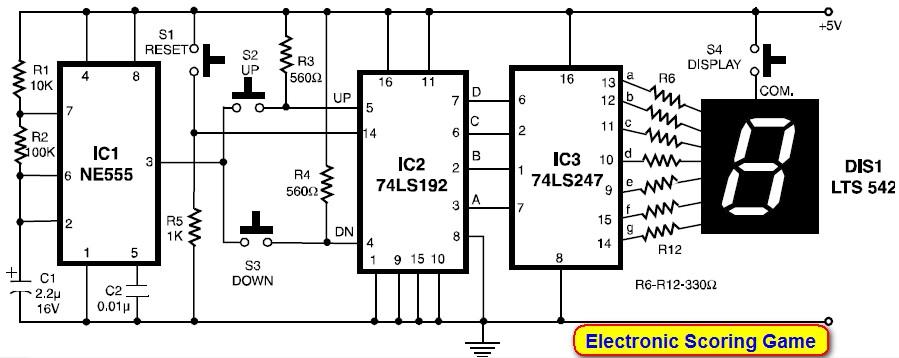 Stupendous Seven7Segment Counter Circuit With Led Displaydiagram And Schematic Wiring Cloud Loplapiotaidewilluminateatxorg