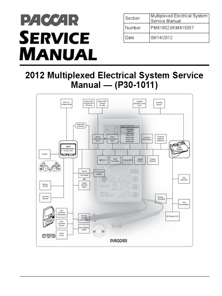 Fine Paccar 2010 Multiplexed Electrical System Sevice Manual P30 1011 Wiring Cloud Hemtshollocom