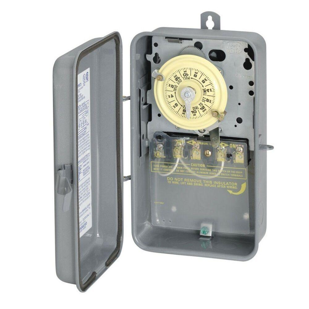 Sensational Intermatic T104R 208 277 Volt Dpst 24 Hour Mechanical Time Switch Wiring Cloud Licukosporaidewilluminateatxorg