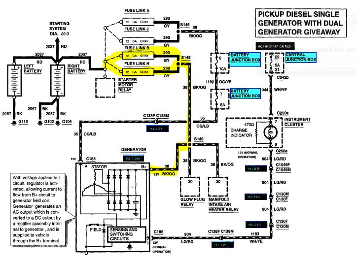 Ford F350 Alternator Wiring Diagram | sultan-console Database Wiring  Diagram - sultan-console.uroclinica.it | Ford F350 Alternator Wiring |  | uroclinica.it