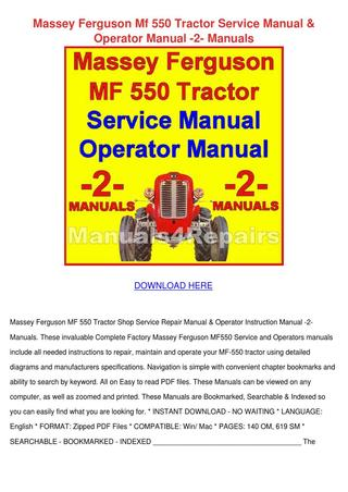 Remarkable Massey Ferguson Mf 550 Tractor Service Manual By Haleyfolk Issuu Wiring Cloud Loplapiotaidewilluminateatxorg