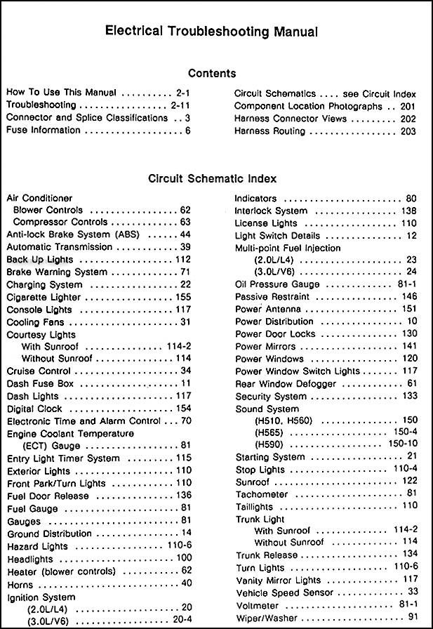 2002 Hyundai Sonata Electrical Schematic