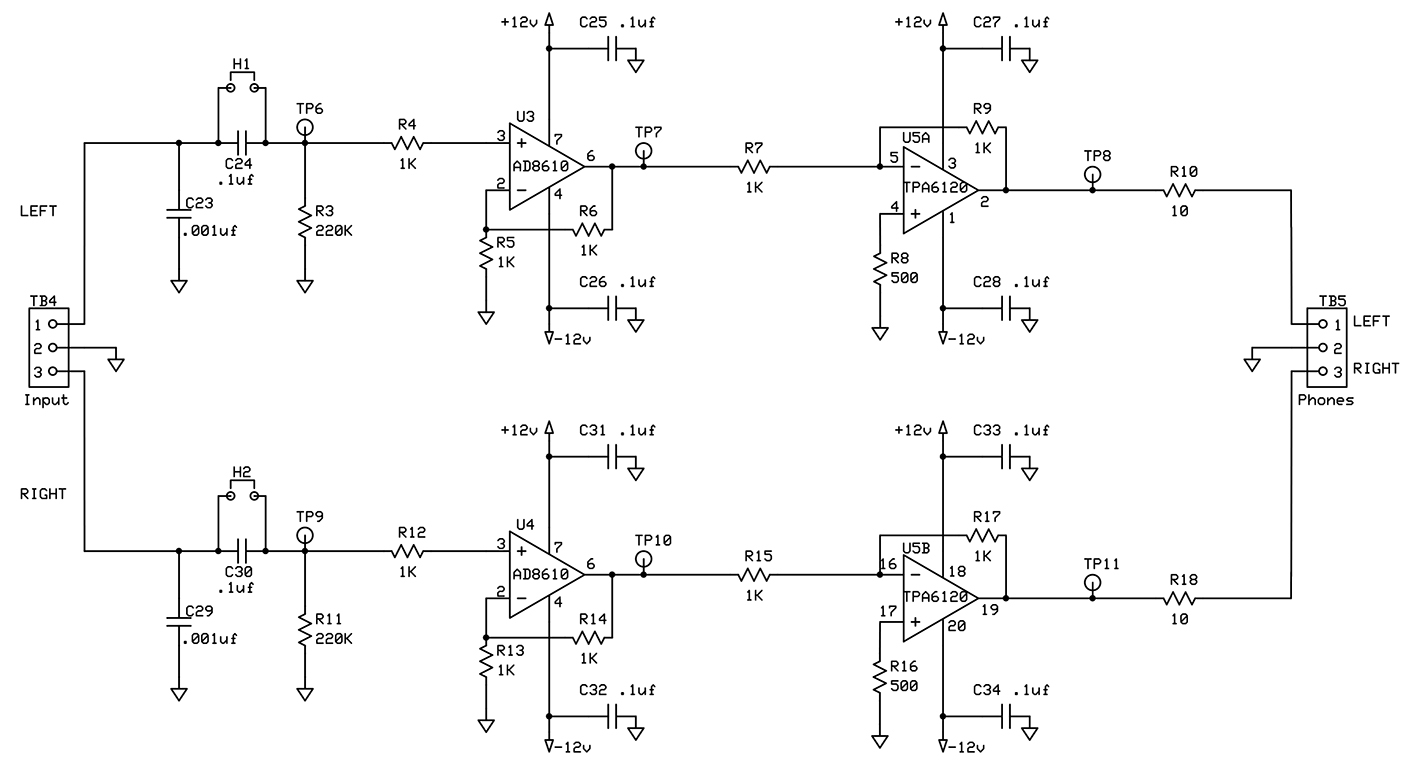 Ax 8234  Stereo Headphone Circuit Diagram Schematic Wiring