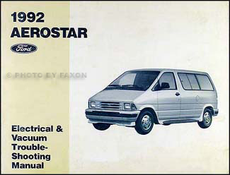 Pleasing 1992 Ford Aerostar Electrical And Vacuum Troubleshooting Manual Wiring Cloud Inklaidewilluminateatxorg