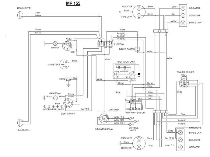 massey harris wiring diagrams aw 4620  massey ferguson 165 wiring diagram photo album wire  massey ferguson 165 wiring diagram