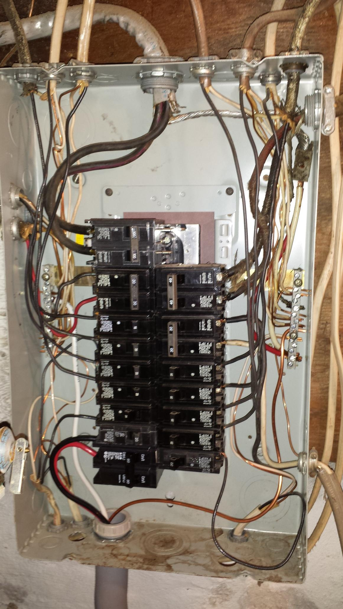 Groovy Electrical Panel Is The Wiring In This Subpanel Correct Home Wiring Cloud Rineaidewilluminateatxorg