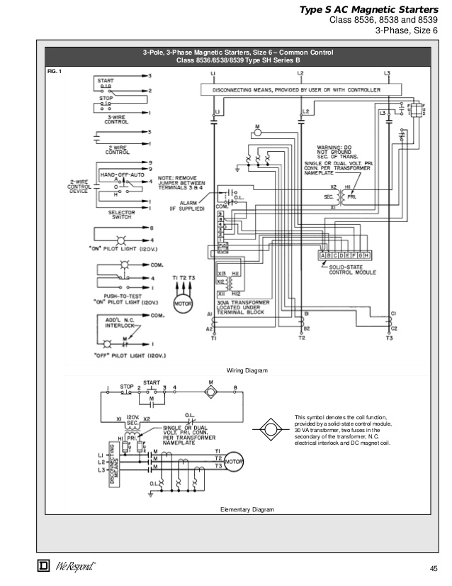 Square D Mechanically Held Contactor Wiring Diagram