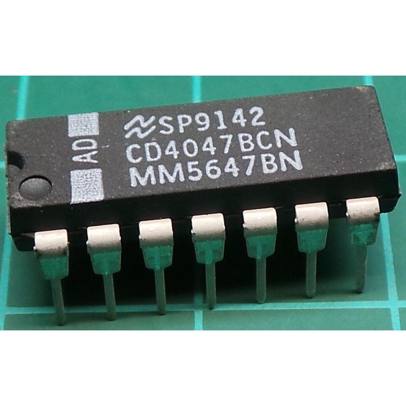 TEXAS INSTRUMENTS CD4047BE IC 4000 CMOS 18V DIP14 4047 5 pieces