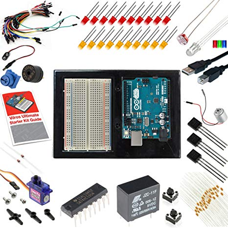 Brilliant Amazon Com Vilros Arduino Uno 3 Ultimate Starter Kit Includes 12 Wiring Cloud Eachirenstrafr09Org