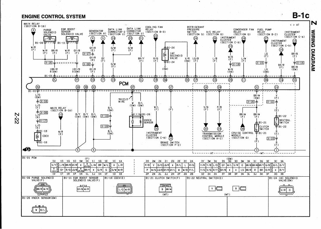 1999 Mazda Protege Wiring Diagram