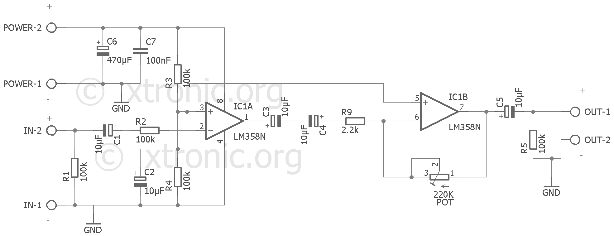 Cool Preamp Circuit Audio Preamplifier Ic Lm358 Dual Op Amp Xtronic Wiring Cloud Staixaidewilluminateatxorg