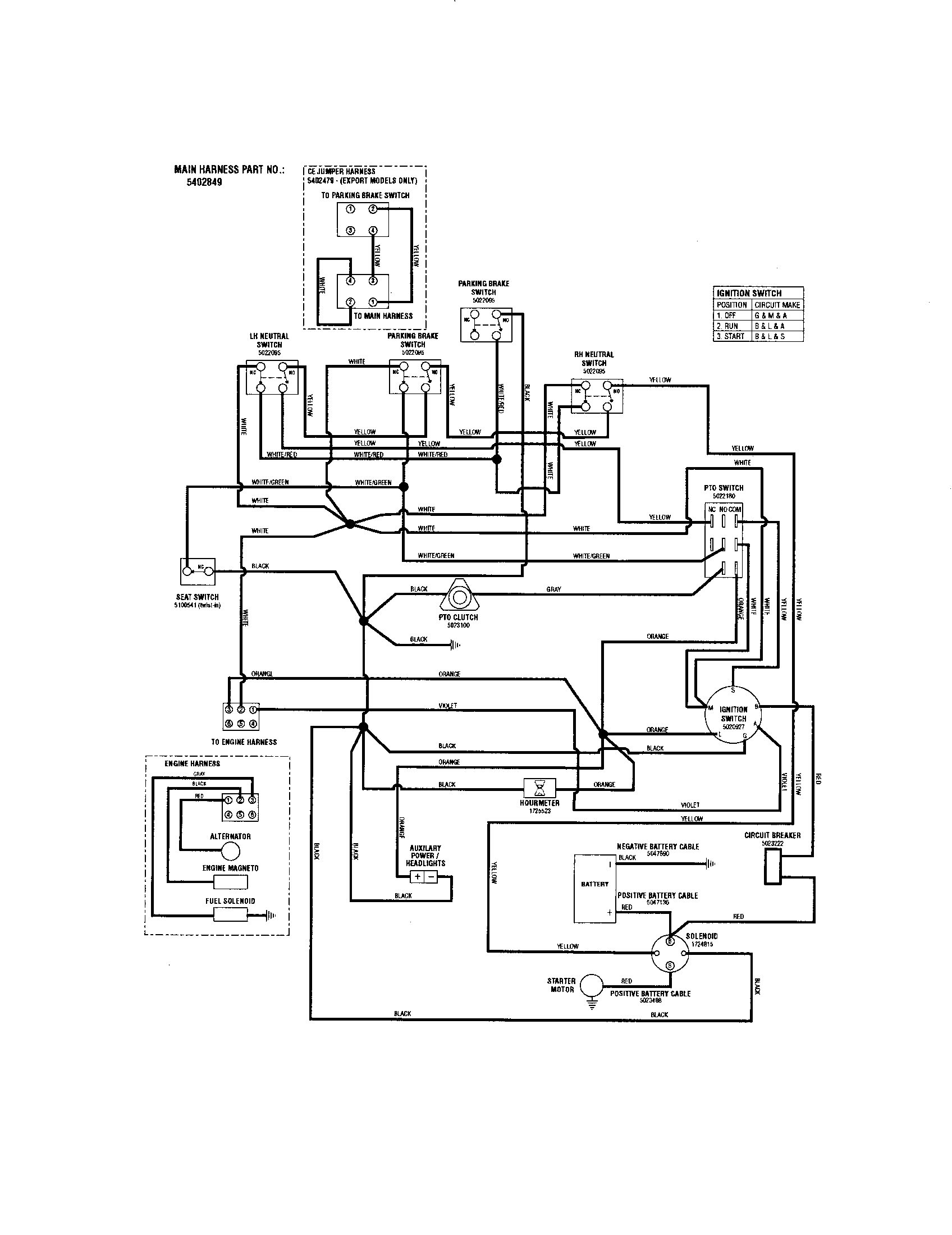 Ny 5767 Briggs Engine Diagram And Parts List For Snapper Ridingmowertractor Wiring Diagram
