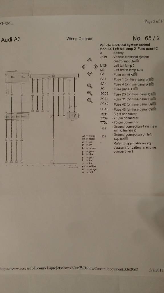cs4022 audi a3 rear lights wiring diagram free diagram
