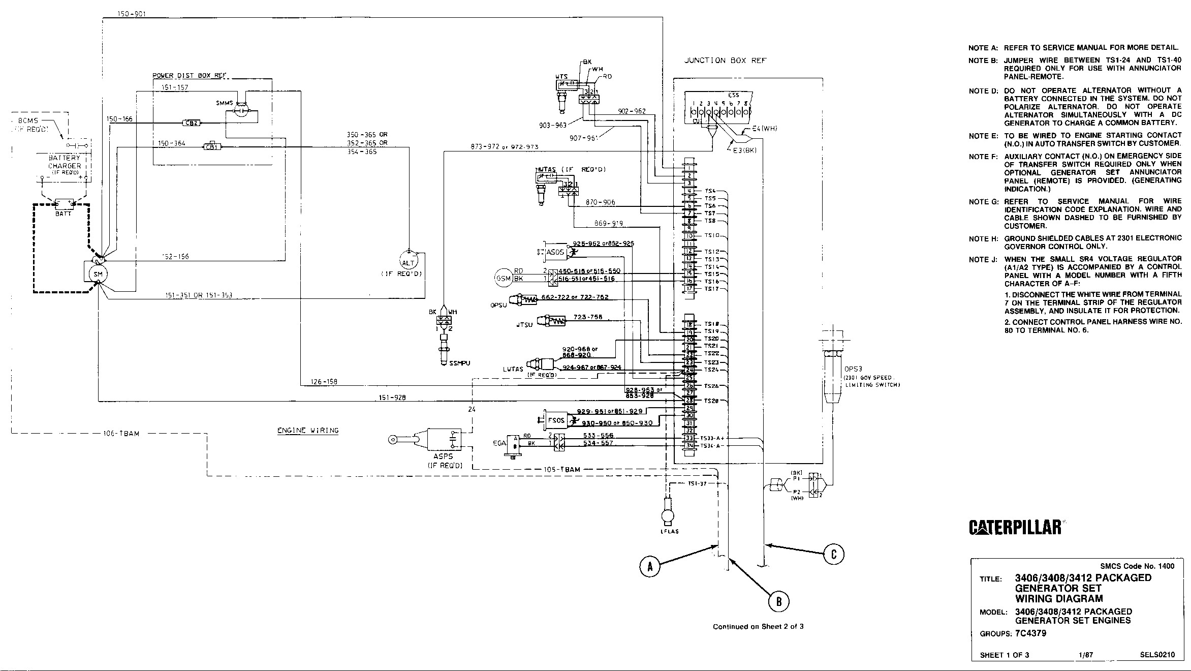 Cat 3406c Generator Wiring Diagram