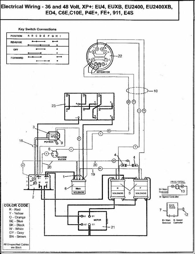 free 1995 ezgo medalist wiring diagram  schematic wiring
