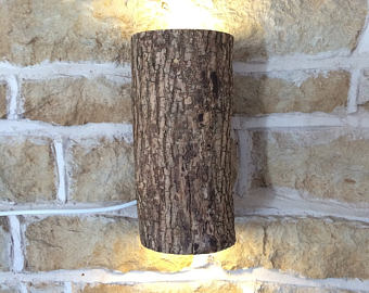 Super Abstract Rustic Handmade Wood Wall Light Spiral Up Down Wall Etsy Wiring Cloud Ostrrenstrafr09Org