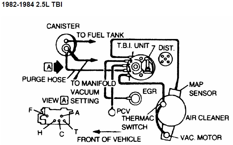 Gl 4854  Vacuum Diagram Chevy 350 Chevrolet Cars Trucks Schematic Wiring
