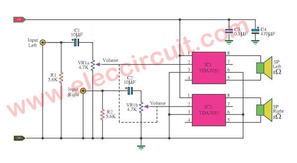 Marvelous Tda7052 Amplifier Low Voltage 3V 5V 1 W Btl Amp Wiring Cloud Itislusmarecoveryedborg