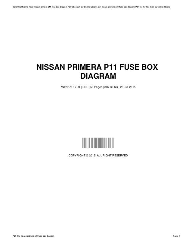 Nissan Primera 2002 Wiring Diagram