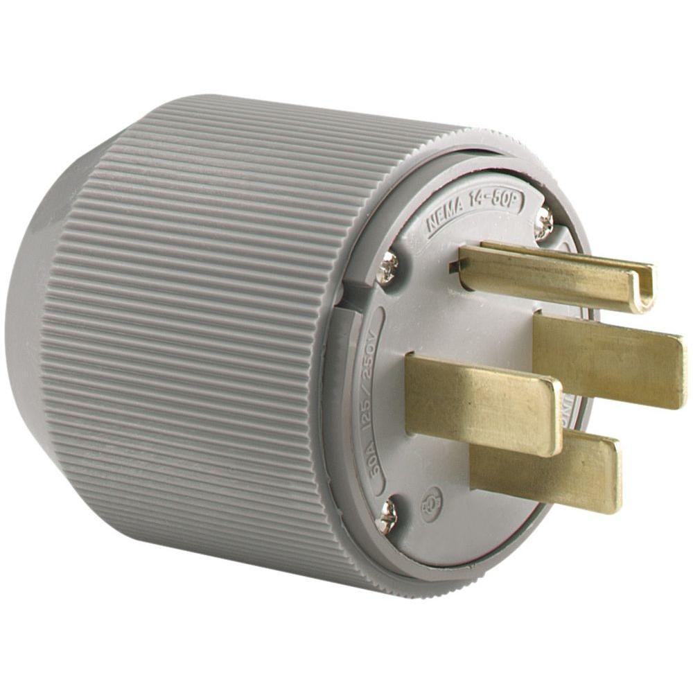 Brilliant Eaton 50 Amp 125 250 Volt 14 50 Industrial Power Plug Gray 5745N Wiring Cloud Xempagosophoxytasticioscodnessplanboapumohammedshrineorg