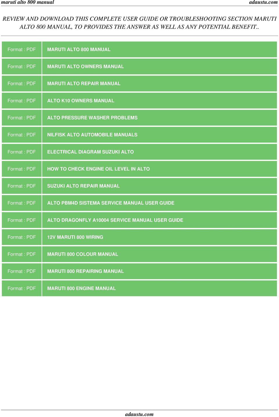 GO_7847] Diesel Wiring Diagram Pdf Maruti Alto Electrical Wiring Diagram  Wiring DiagramLing Push Bepta Mohammedshrine Librar Wiring 101