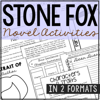 Tremendous Stone Fox Novel Study Unit Activities In 2 Formats Tpt Wiring Cloud Inklaidewilluminateatxorg