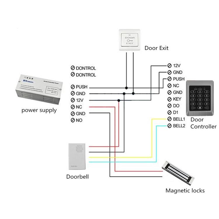 Keypad Access K2000 Wiring Diagram