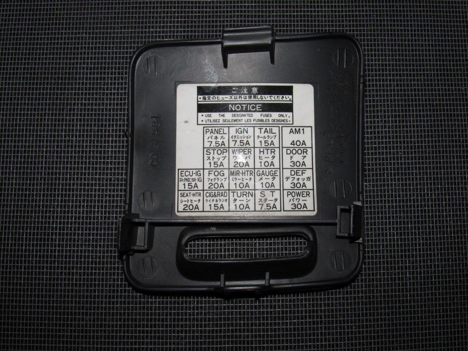 WO_4069] 93 94 95 96 97 Honda Del Sol Oem Interior Fuse Box E2 80 93  Autopartone Schematic WiringOgeno Dome Mohammedshrine Librar Wiring 101