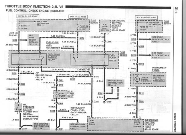 Rn 9991 92 Isuzu Trooper Wiring Diagram Schematic Wiring