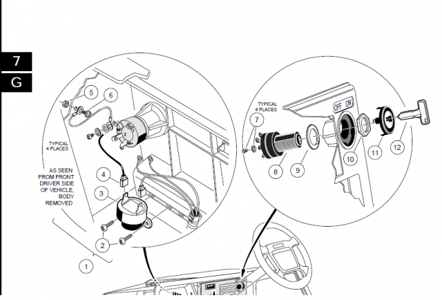 36 volt ezgo golf cart ignition switch wiring diagram rc 8204  club car 48v wiring diagram selector switch  club car 48v wiring diagram selector switch