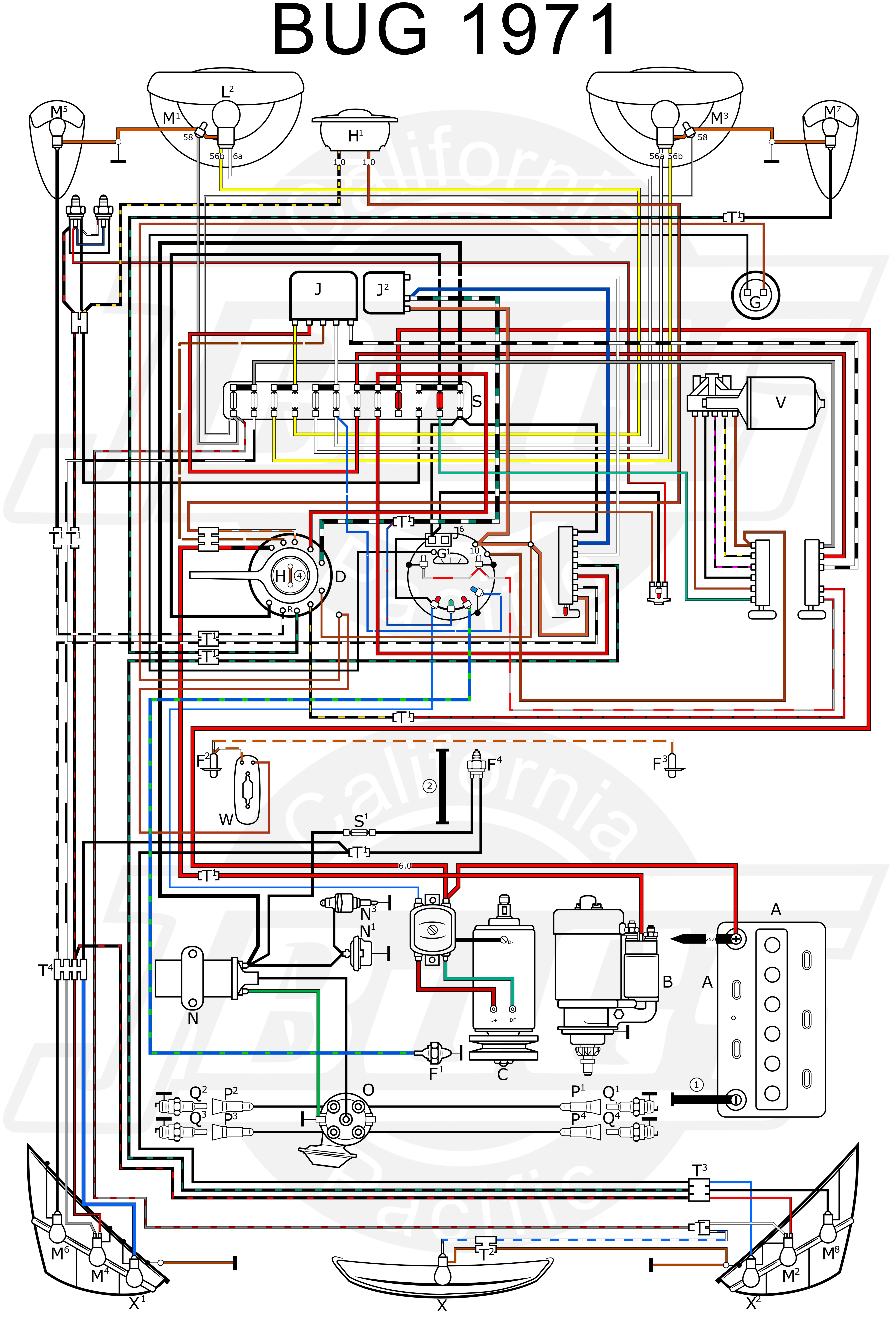 Cool 1971 Vw Wiring Diagram Wiring Diagram Data Wiring Cloud Apomsimijknierdonabenoleattemohammedshrineorg