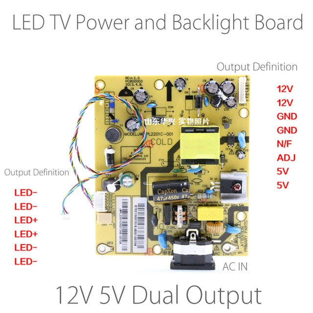 Astounding 10 24 Inch Led Tv Power Supply Board And Backlight Driver Board Wiring Cloud Uslyletkolfr09Org