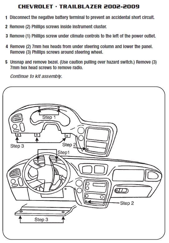 Admirable 2003 Chevrolet Trailblazer Installation Parts Harness Wires Kits Wiring Cloud Eachirenstrafr09Org