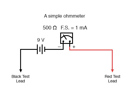 Awesome Ohmmeter Design Dc Metering Circuits Electronics Textbook Wiring Cloud Hemtshollocom