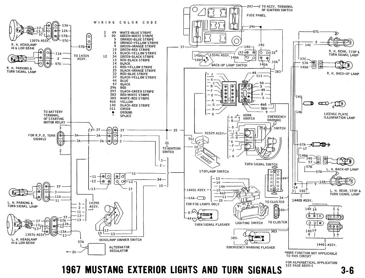 Excellent 1967 Ford Mustang Wiring Diagrams Wiring Diagram Wiring Cloud Licukaidewilluminateatxorg