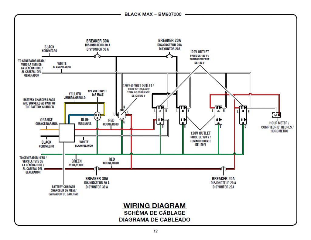 Ft 2203 Se350 3 Phase Generator Wiring Diagram Schematic Wiring