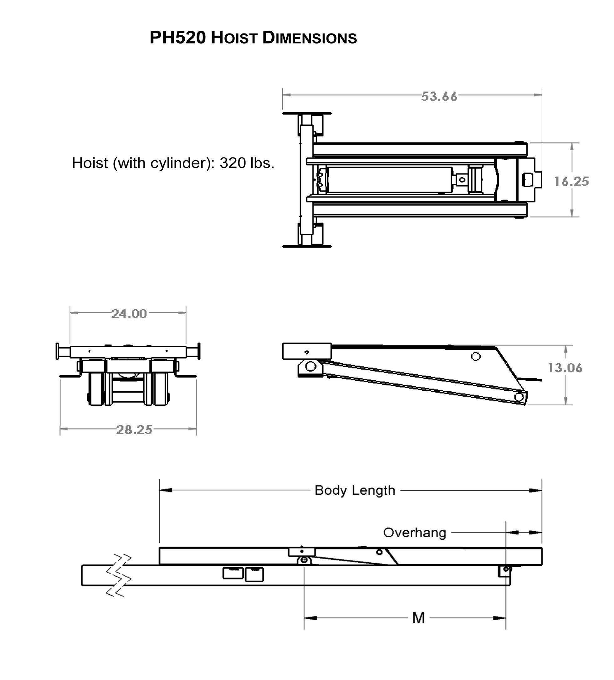 Tremendous 10 Ton 20 000 Lb Dump Trailer Hydraulic Scissor Hoist Kit Ph520 Wiring Cloud Hemtegremohammedshrineorg