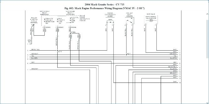 Dh 9634 Mack Wiring Harness Frame Free Diagram