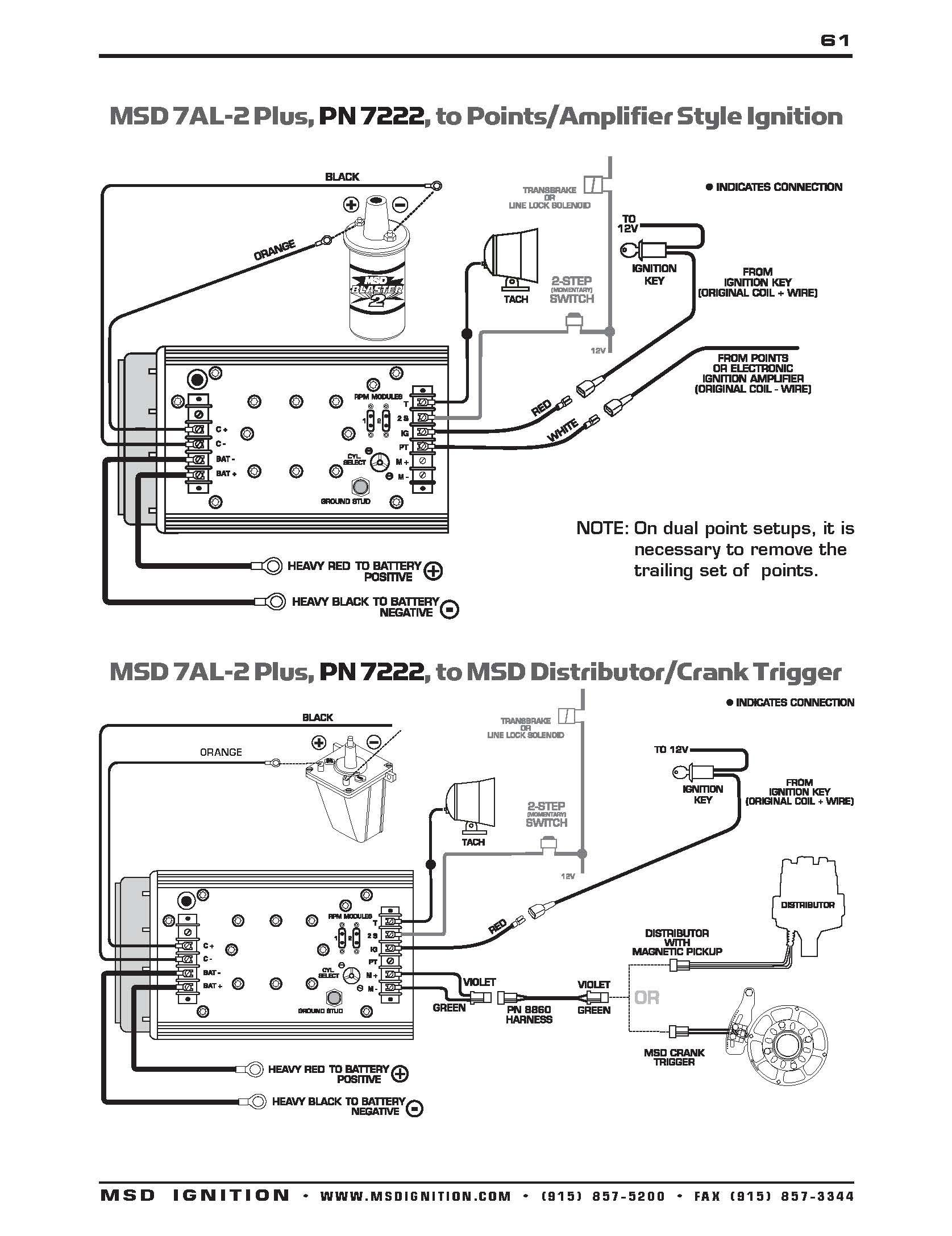 Msd Ignition Wiring Diagram 7al