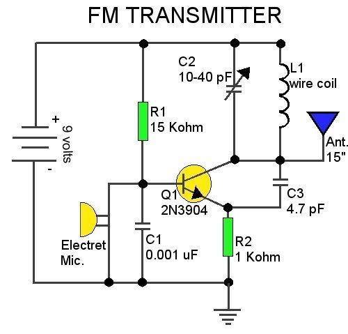 Ym 4022 Cool Electronics Circuits Low Power Fm Transmitter Schematic Wiring