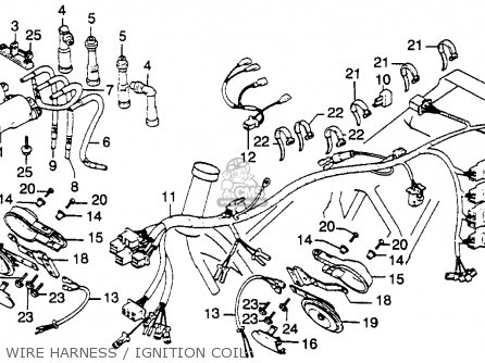 MO_6630] Wire Harness Ignition Coil Schematic Honda Cb900C 900 Custom 1981 Schematic  WiringHopad Frag Adit Joni Eatte Mohammedshrine Librar Wiring 101