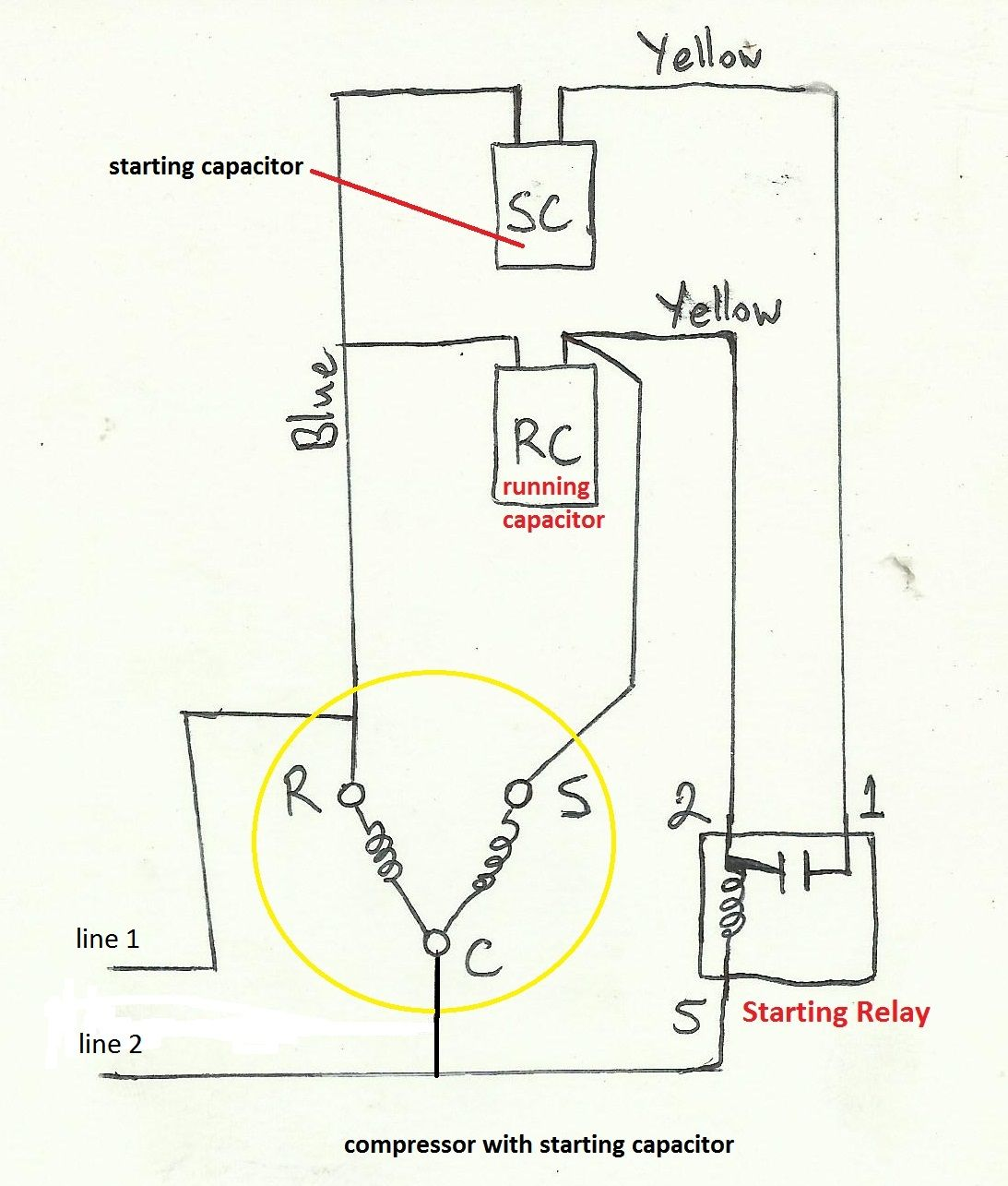 Sensational Potential Relay Start Capacitor Wiring Diagram Basic Electronics Wiring Cloud Icalpermsplehendilmohammedshrineorg