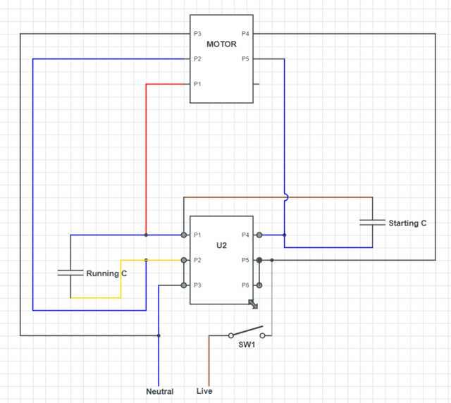 Admirable Electric Motor Single Phase Wiring Diagram Basic Electronics Wiring Cloud Histehirlexornumapkesianilluminateatxorg