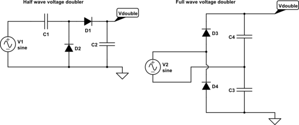 Cool Diodes What Is The Difference Between Half Wave Voltage Doubler Wiring Cloud Picalendutblikvittorg