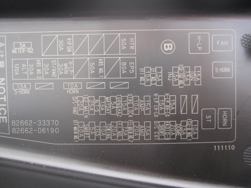 Ma 1474 1994 Toyota Camry Fuse Box Layout Free Diagram