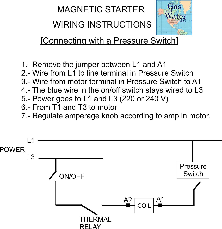 Brilliant Magnetic Electric Motor Starter Control 5 Hp Single Phase 220 240V Wiring Cloud Onicaxeromohammedshrineorg