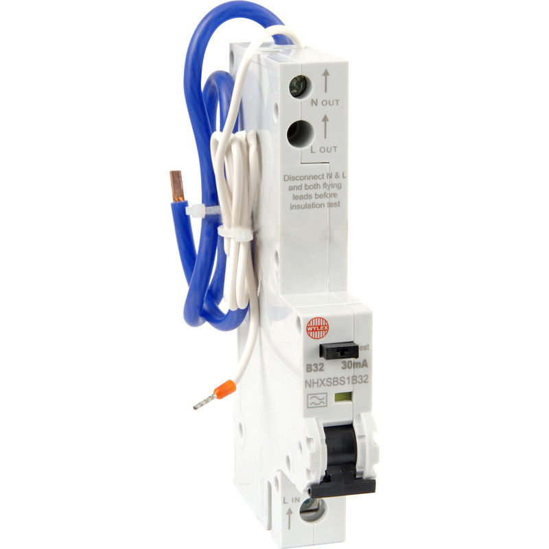 Groovy Wylex Rcbo 32A 30Ma Type B Wiring Cloud Overrenstrafr09Org