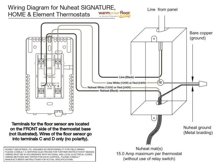 Superb Nuheat Element Non Programmable Thermostat Element Wiring Cloud Genionhyedimohammedshrineorg